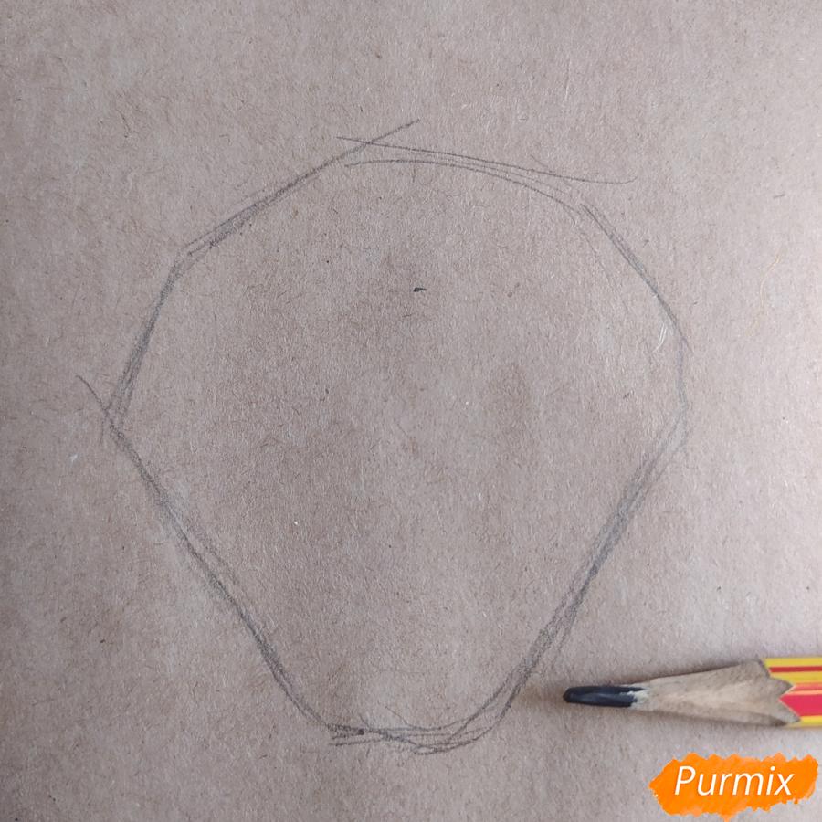 Как рисовать Магнолию карандашами - шаг 1