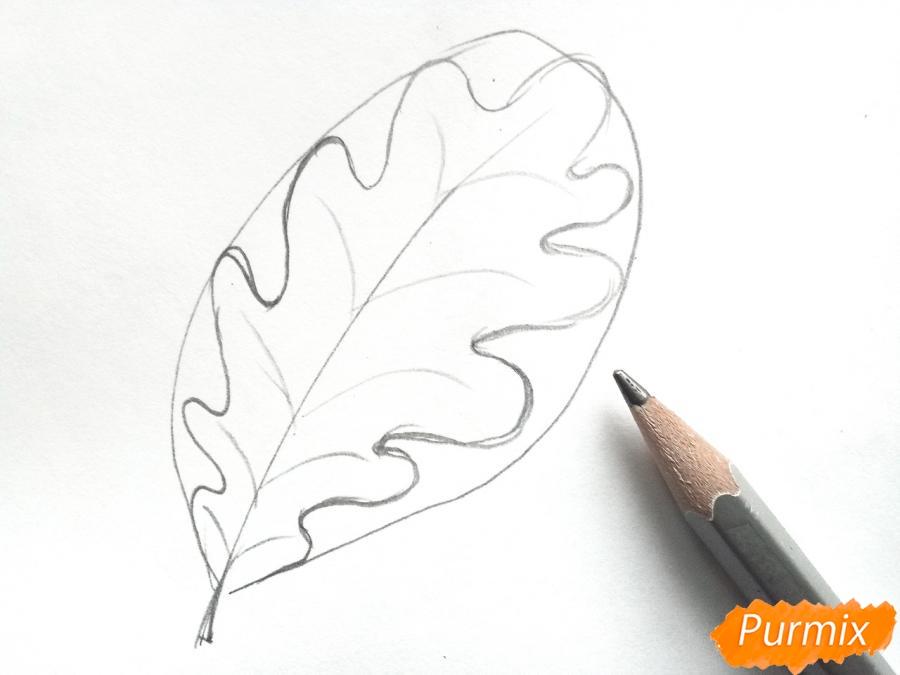 Рисуем осенние листья - шаг 2