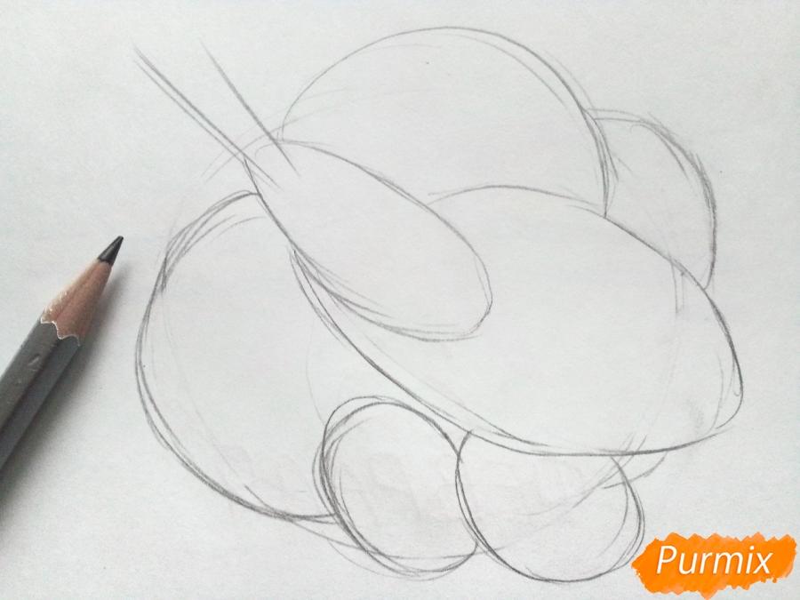 Рисуем осенний букет карандашами - шаг 2