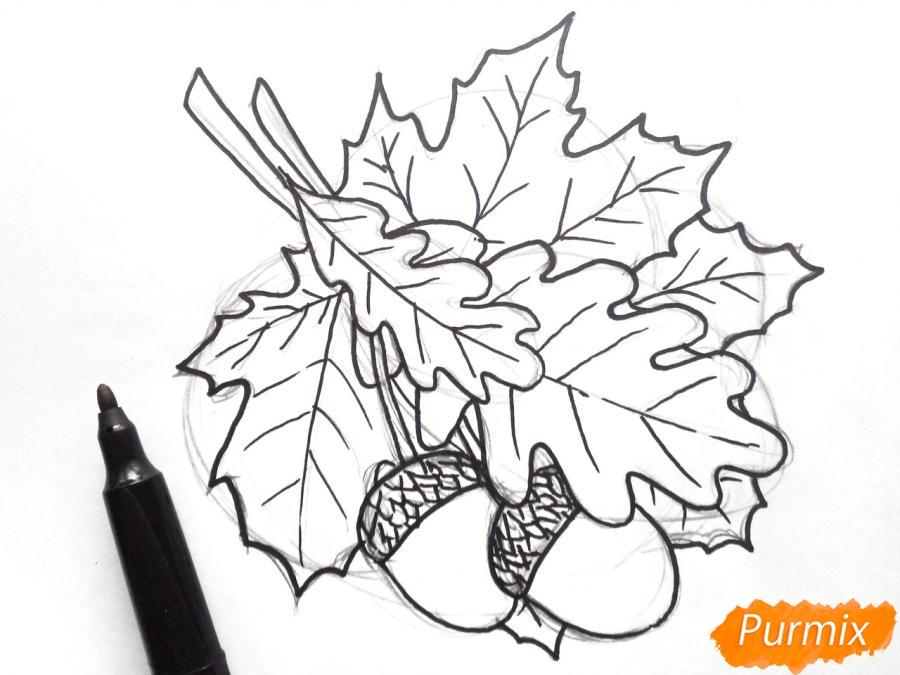 Рисуем осенний букет карандашами - шаг 4