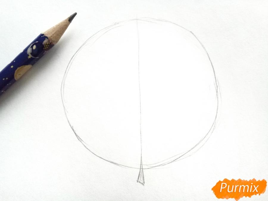 Рисуем осенний кленовый лист - шаг 1