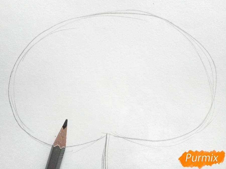 Рисуем осенний лист каштана - шаг 1