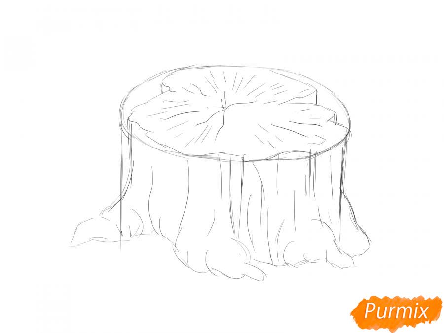 Рисуем пень от дерева - шаг 2