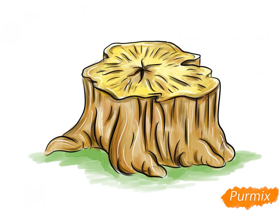 Рисуем пень от дерева - шаг 5