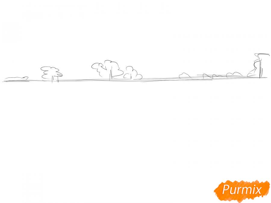 Рисуем поле лаванды - шаг 2