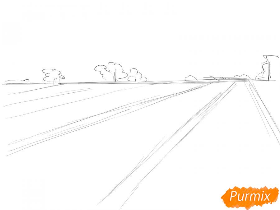 Рисуем поле лаванды - шаг 3