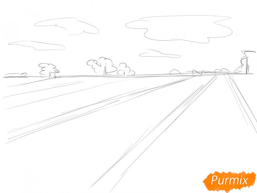 Рисуем поле лаванды - шаг 4
