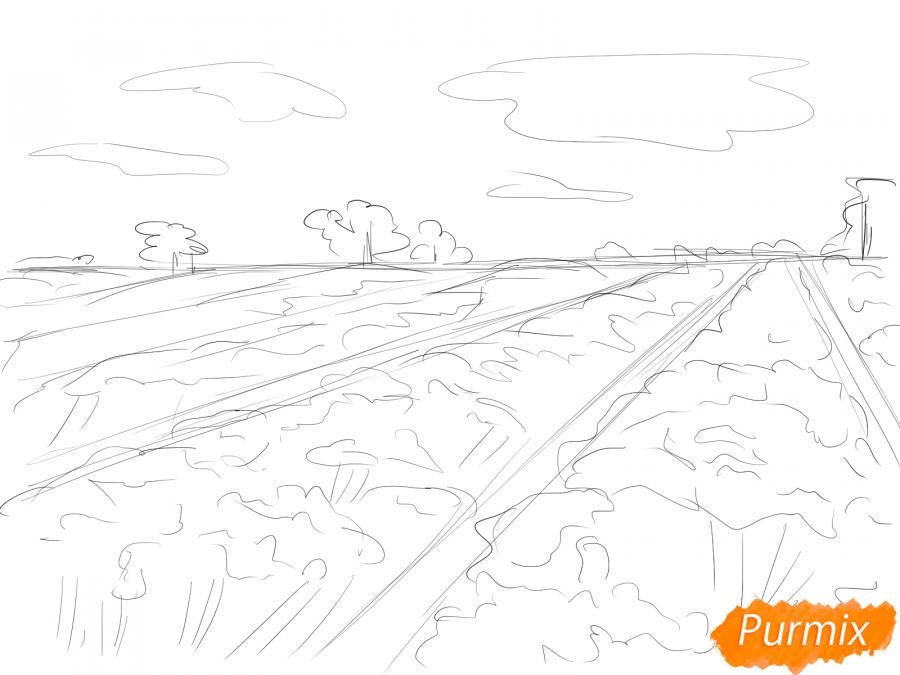 Рисуем поле лаванды - шаг 5