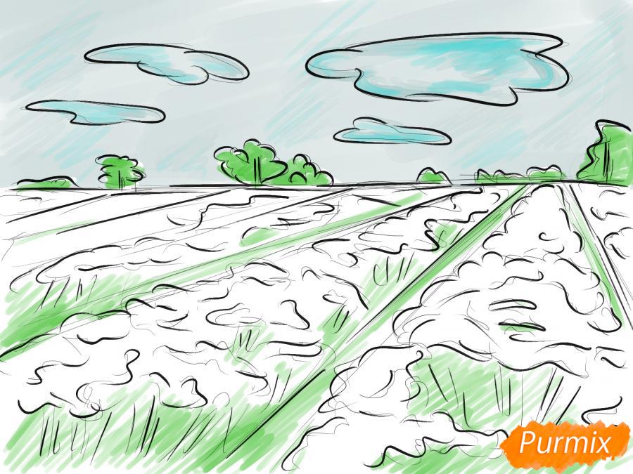 Рисуем поле лаванды - шаг 8