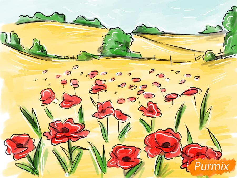 Рисуем поле маков - шаг 10