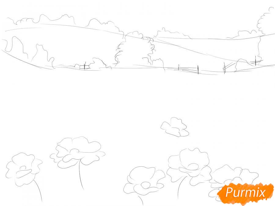 Рисуем поле маков - шаг 3
