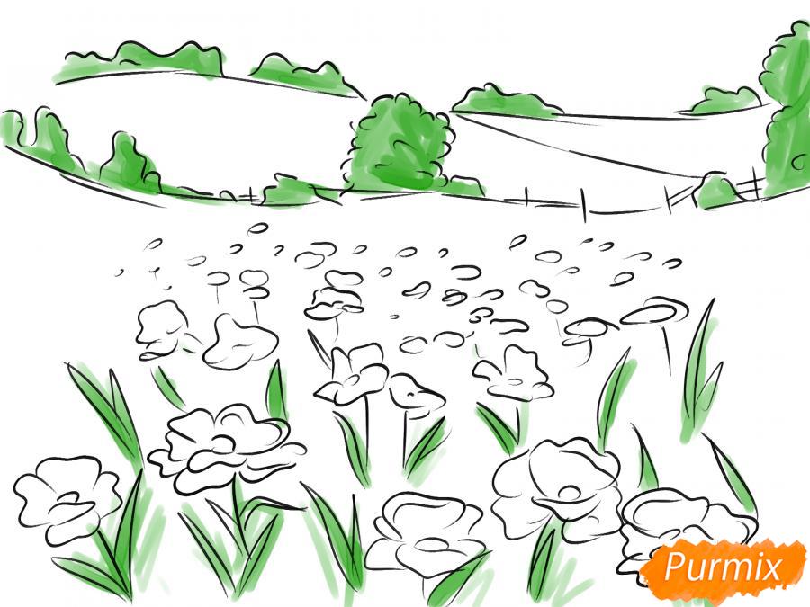 Рисуем поле маков - шаг 6