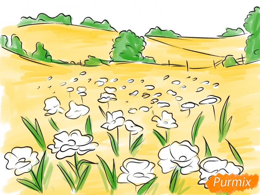 Рисуем поле маков - шаг 7