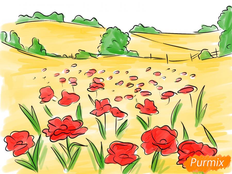Рисуем поле маков - шаг 8