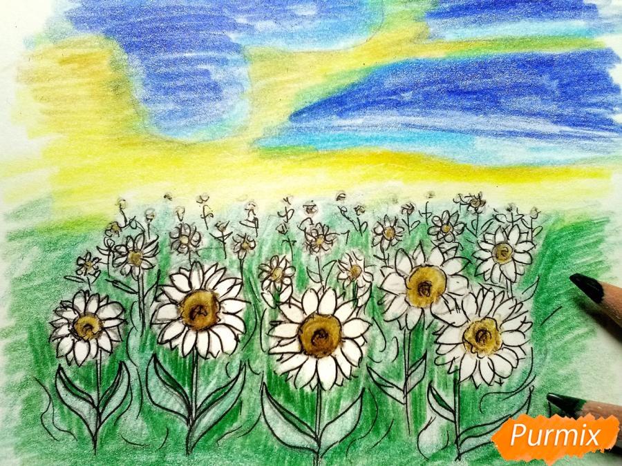 Рисуем поле подсолнухов - шаг 8