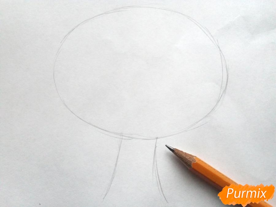 Рисуем родословное дерево просто для детей - шаг 1