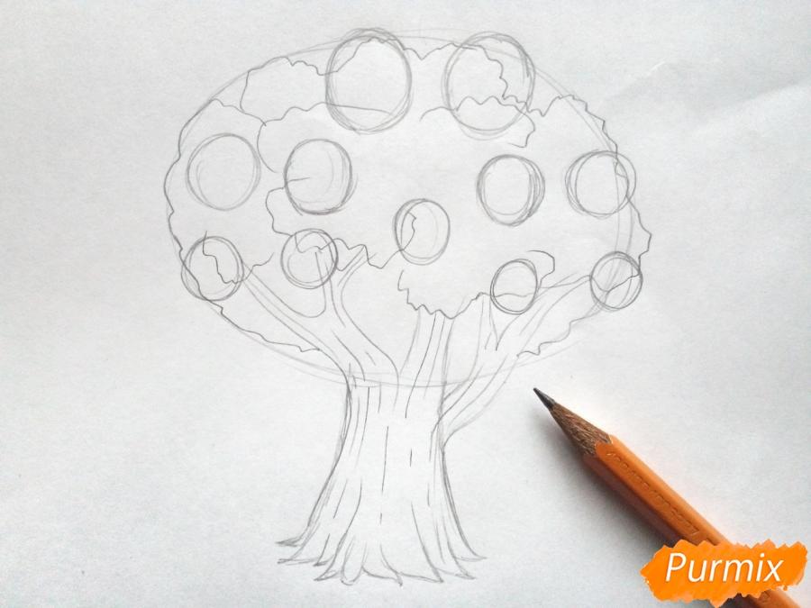 Рисуем родословное дерево просто для детей - шаг 3