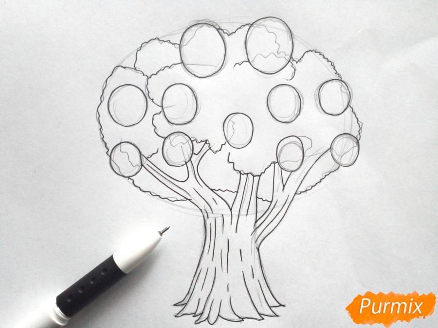 Рисуем родословное дерево просто для детей - шаг 4