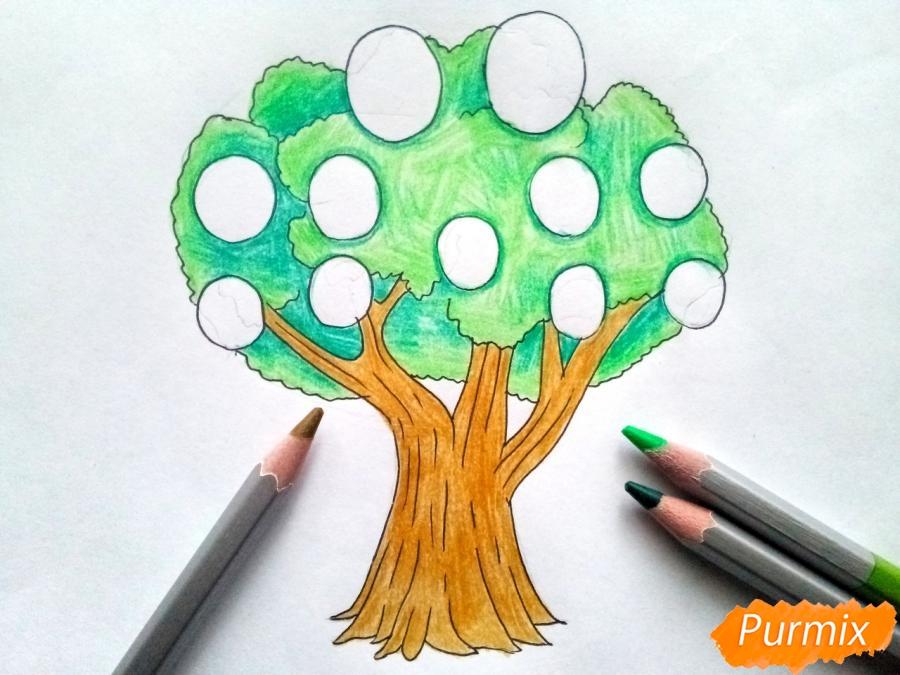 Рисуем родословное дерево просто для детей - шаг 5
