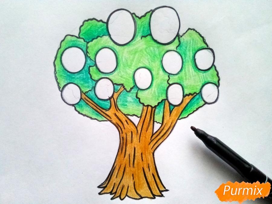 Рисуем родословное дерево просто для детей - шаг 6