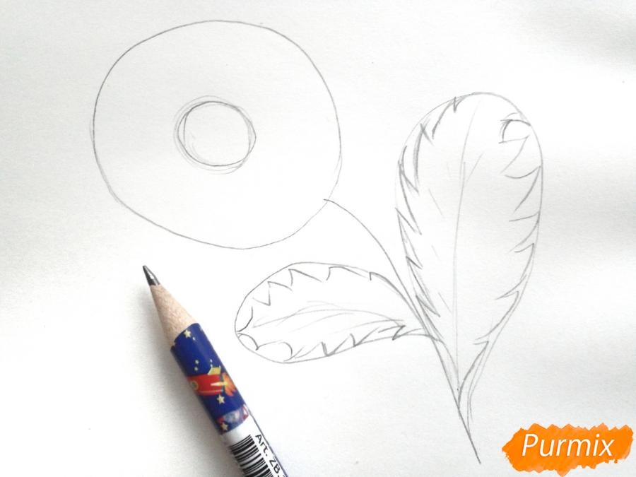 Ромашка с большими листиками - шаг 2