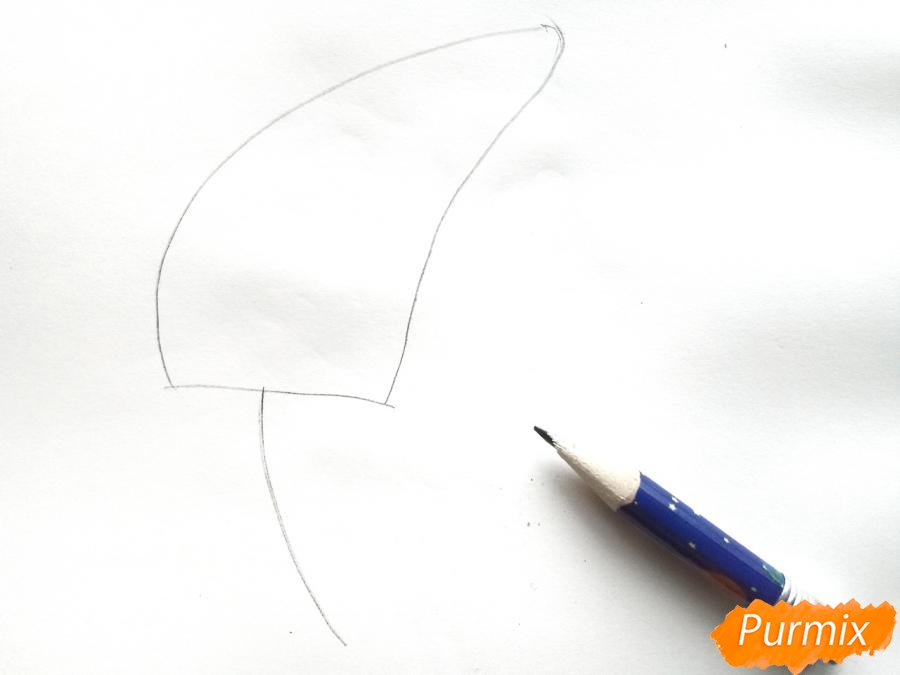 Рисуем сирень карандашами - шаг 1