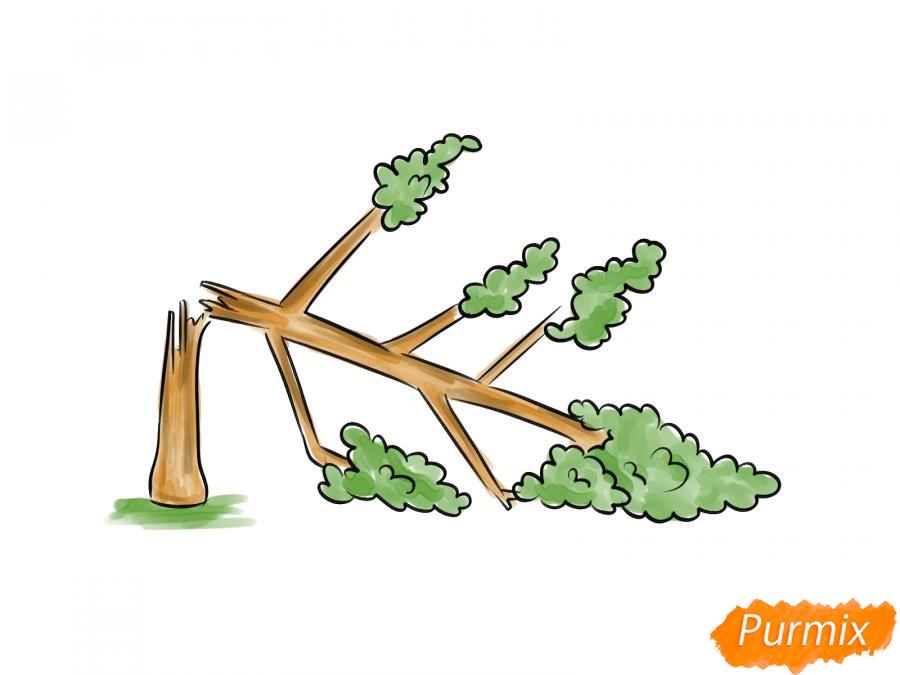 Рисуем сломанное дерево - шаг 7