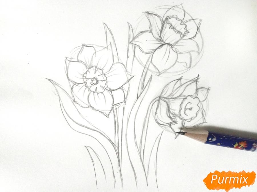 Рисуем Нарциссы - шаг 4