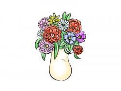 вазу с цветами