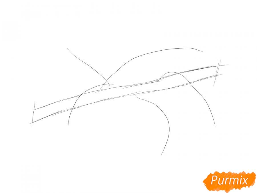 Рисуем ветку с листьями груши - шаг 2