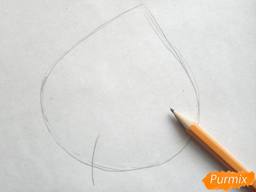 Рисуем виноградный лист - шаг 1