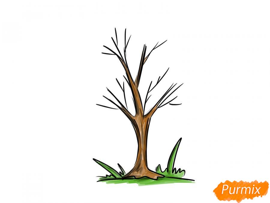 Рисуем ясень без листьев - шаг 7