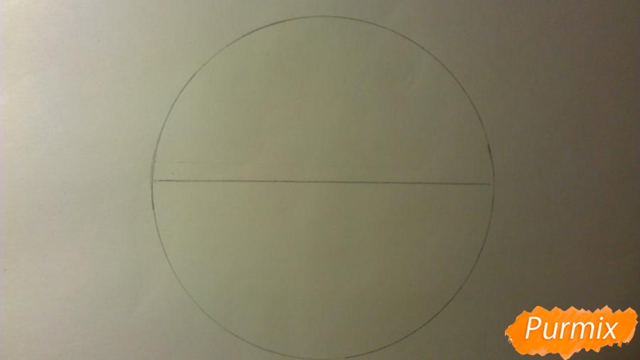 Как просто и красиво нарисовать снежинку на бумаге для детей - шаг 1