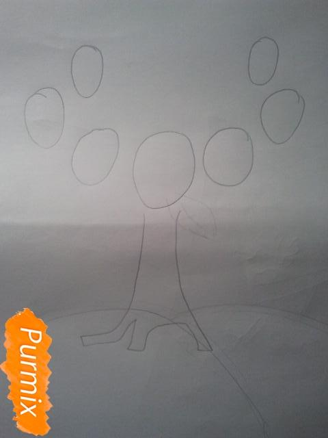 Как просто нарисовать фамильное древо - шаг 2