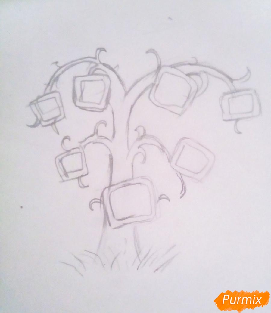 Как просто нарисовать семейное дерево - шаг 2