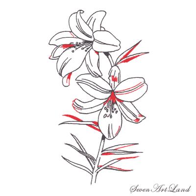 Рисуем белые Лилии - шаг 5