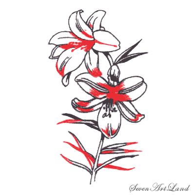 Рисуем белые Лилии - шаг 6