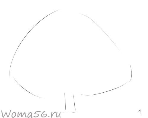 Рисуем лиственное дерево - шаг 1