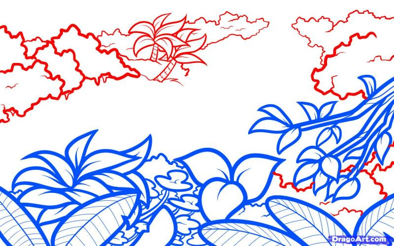 Рисуем джунгли на бумаге