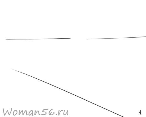 Рисуем осенний пейзаж карандашами - шаг 1
