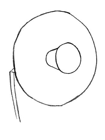 Рисуем нарцисс легко - шаг 1
