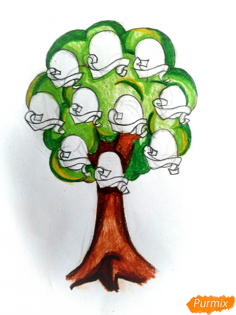 Рисуем генеалогическое древо семьи - шаг 9