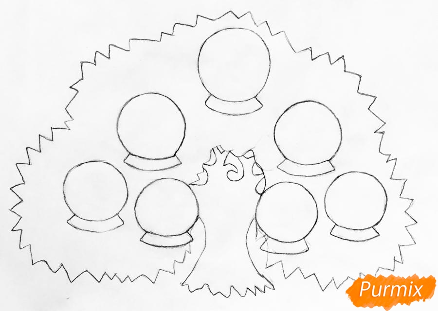 Рисуем семейное генеалогическое древо с птичками для детей - шаг 2