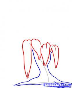 Рисуем иву - шаг 3