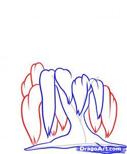 Рисуем иву - шаг 4