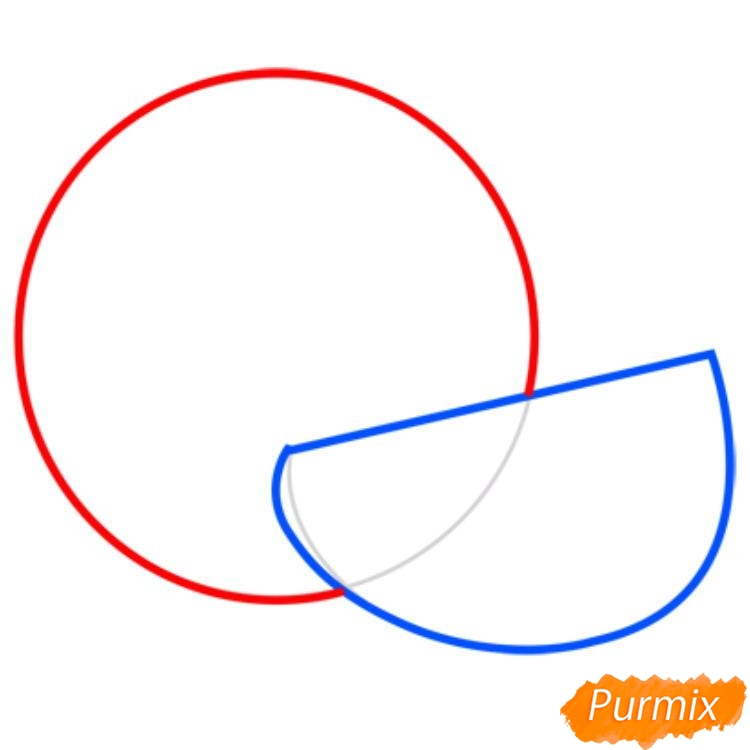 Рисуем арбуз   для начинающих - шаг 1