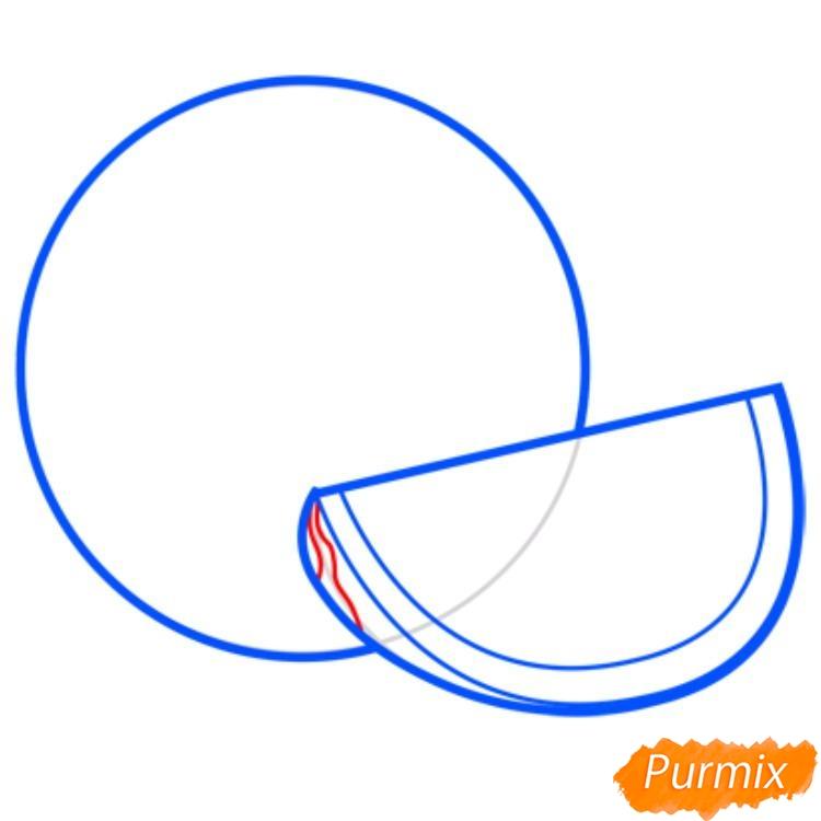 Рисуем арбуз   для начинающих - шаг 4