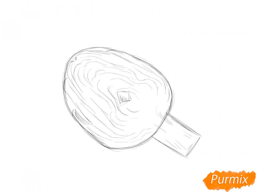 Рисуем артишок в разрезе - шаг 3