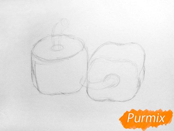 Рисуем болгарский, чили перец карандашами - шаг 3