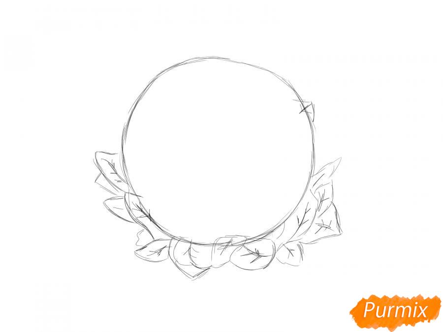 Рисуем цветную капусту карандашами - шаг 2